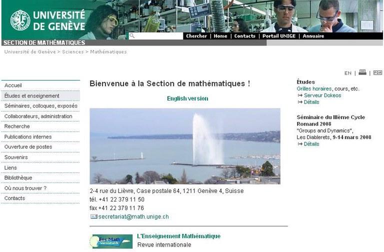 Site de la section de math